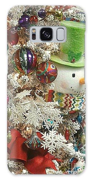 Fun Snowman Holiday Greeting Galaxy Case