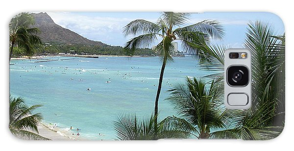 Fun Times On The Beach In Waikiki Galaxy Case