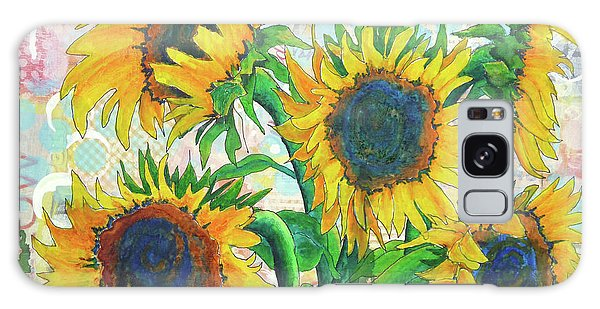 Funflowers Galaxy Case
