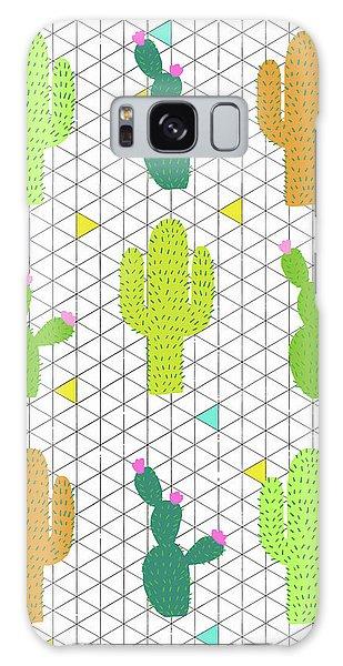 Funky Cactus Galaxy Case by Nicole Wilson