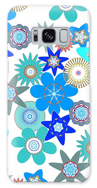Funky Flower Pattern Galaxy Case by Methune Hively