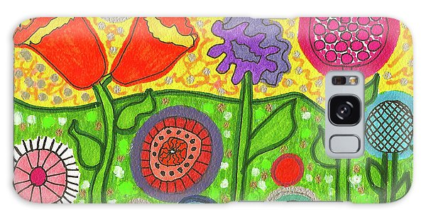 Funky Flowers All In A Row Galaxy Case