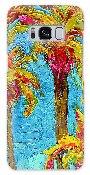 Funky Fun Palm Trees - Modern Impressionist Knife Palette Oil Painting Galaxy Case