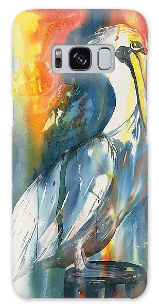 Funky Pelican Galaxy Case by Tara Moorman