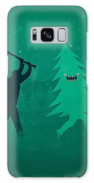 Santa Claus Galaxy Case - Funny Cartoon Christmas Tree Is Chased By Lumberjack Run Forrest Run by Philipp Rietz