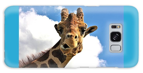 Funny Face Giraffe Galaxy Case by Sheila Brown