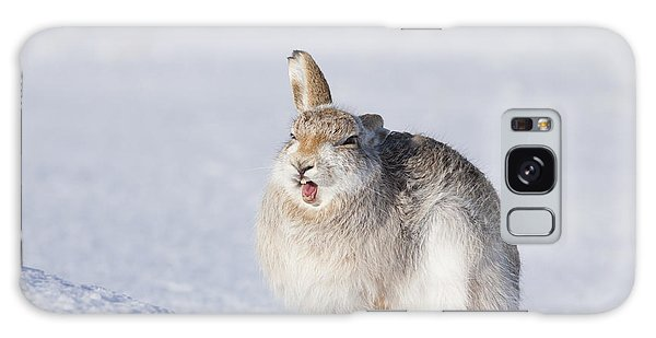 Funny Face - Mountain Hare - Scottish Highlands  #13 Galaxy Case