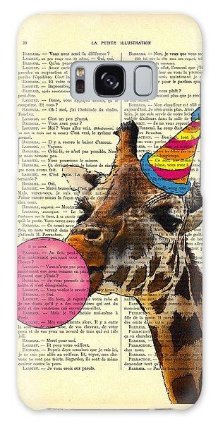 Celebration Galaxy Case - Funny Giraffe, Dictionary Art by Madame Memento