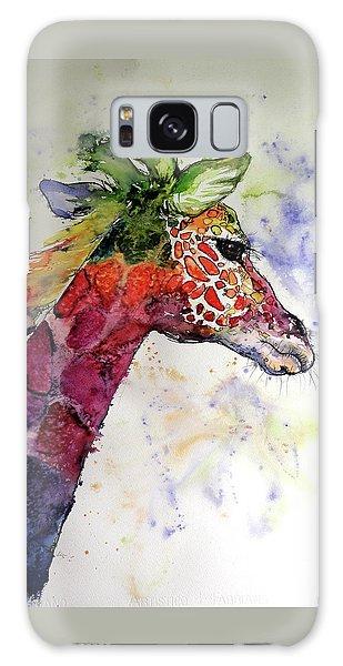 Funny Giraffe Galaxy Case by Kovacs Anna Brigitta