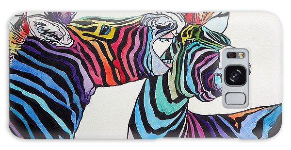 Funny Zebras Galaxy Case by Kovacs Anna Brigitta