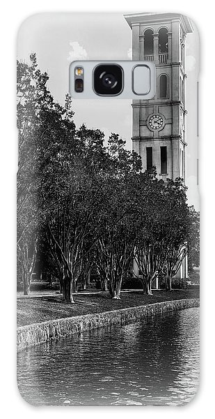 Furman University Bell Tower Greenville South Carolina Black And White Galaxy Case