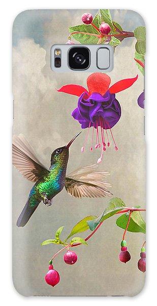 Fuchsia And Hummingbird Galaxy Case