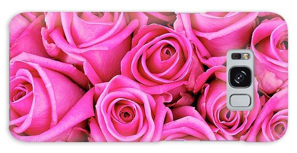 Fuschia Colored Roses Galaxy Case
