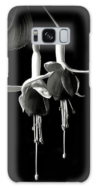 Fuschias In Black And White Galaxy Case