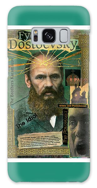 Galaxy Case featuring the mixed media Fyodor Dostoevsky by John Dyess