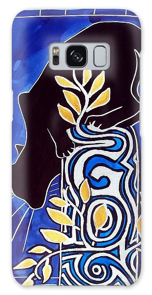 G Is For Gato - Cat Art With Letter G By Dora Hathazi Mendes Galaxy Case