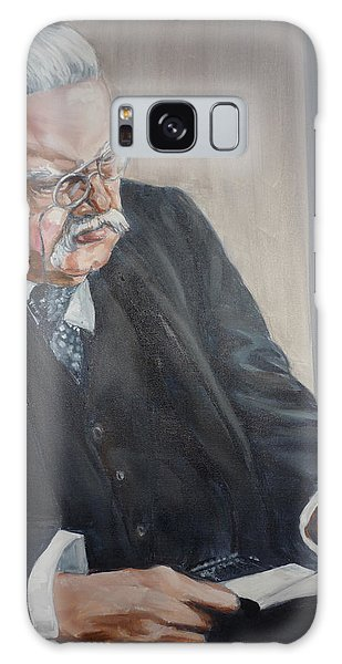 G K Chesterton Galaxy Case by Bryan Bustard