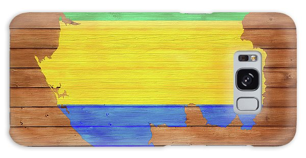 Traveler Galaxy Case - Gabon Rustic Map On Wood by Dan Sproul
