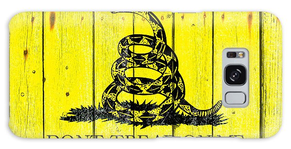 Gadsden Flag On Old Wood Planks Galaxy Case