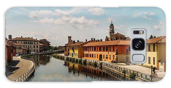 Gaggiano On The Naviglio Grande Canal, Italy Galaxy Case
