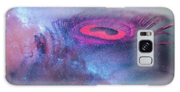 Feather Stars Galaxy Case - Galactic Eye by Jenny Rainbow