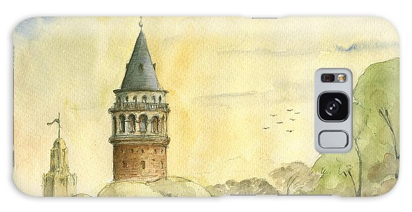 Turkey Galaxy Case - Galata Tower Istanbul by Juan Bosco