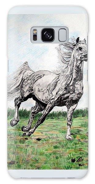 Galloping Arab Horse Galaxy Case by Melita Safran