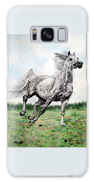 Galloping Arab Horse Galaxy Case