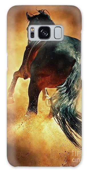 Galloping Horse In Fire Dust Galaxy Case