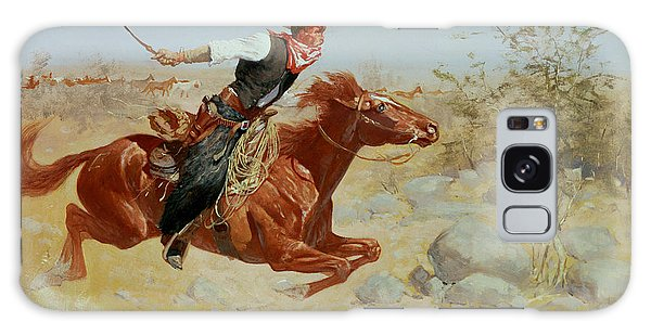 Galloping Horseman Galaxy Case by Frederic Remington
