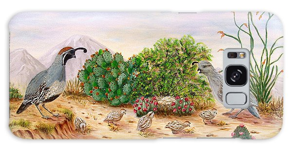 Gambel Quails Day In The Life Galaxy Case by Judy Filarecki