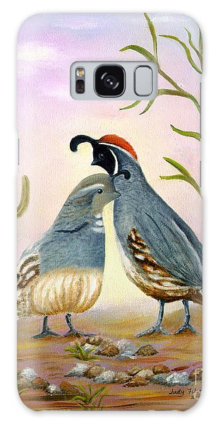 Gambel Quails Friends Forever Galaxy Case