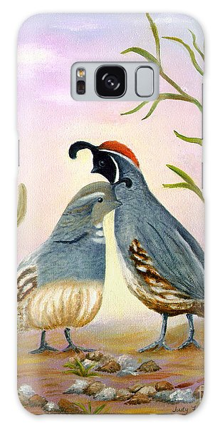 Gambel Quails Friends Forever Galaxy Case by Judy Filarecki