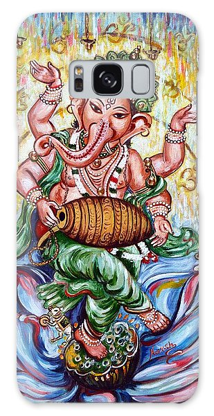 Ganesha Dancing And Playing Mridang Galaxy Case