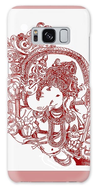 Ganesha Line Drawing Galaxy Case