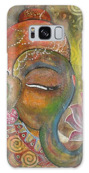 Ganesha With A Pink Lotus Galaxy Case