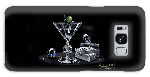 Martini Galaxy S8 Case - Gangsta Martini Livin' Large by Michael Godard
