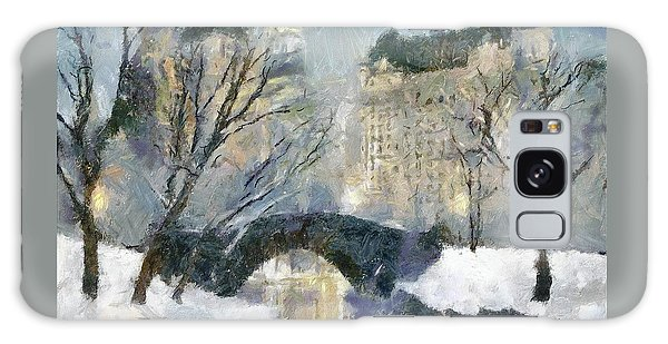Gapstow Bridge In Snow Galaxy Case by Dragica  Micki Fortuna