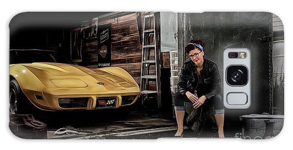 Garage Portrait Galaxy Case by Brad Allen Fine Art