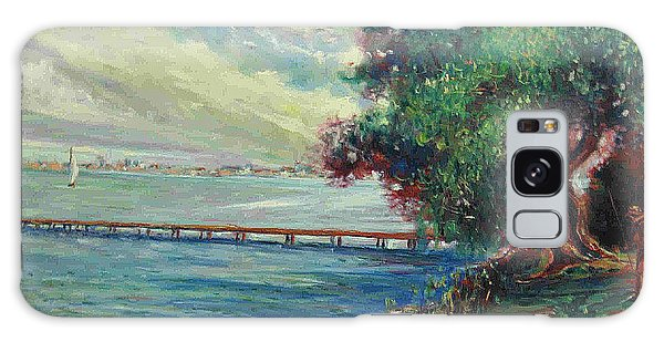 Garda Lake -lago Garda Galaxy Case by Walter Casaravilla