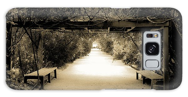Garden Arbor In Sepia Galaxy Case by DigiArt Diaries by Vicky B Fuller
