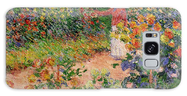 Flowerbed Galaxy Case - Garden At Giverny by Claude Monet