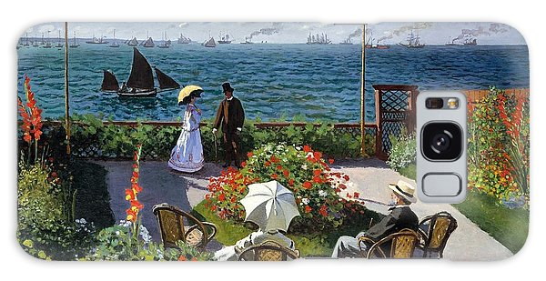 Garden At Sainte Adresse By Claude Monet Galaxy Case