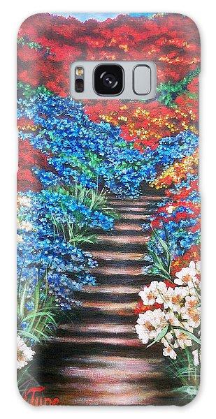 Garden Cascade Galaxy Case by Sigrid Tune