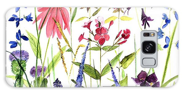 Garden Flowers Galaxy Case by Laurie Rohner