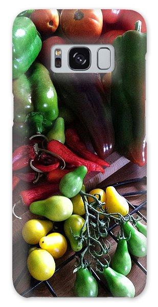 Galaxy Case featuring the photograph Garden Fresh Produce by Deb Martin-Webster