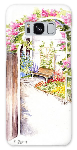 Garden Gate Botanical Landscape Galaxy Case