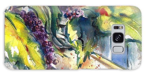 Garden Gate In Fall With Poke Berries  Galaxy Case
