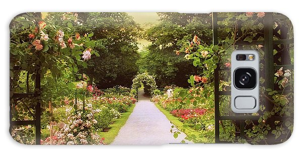 Galaxy Case featuring the photograph Garden Gate by Jessica Jenney