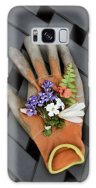 Garden Glove And Flower Blossoms3 Galaxy Case